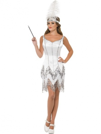 3fb06d9d41aa Bílý kostým 20. léta - Půjčovna kostýmů Florenc